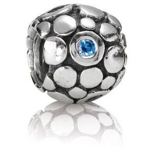 RETIRED! Pandora Blue Bubbles Charm 790329CZB